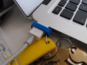 苹果电源转换器变钥匙挂件